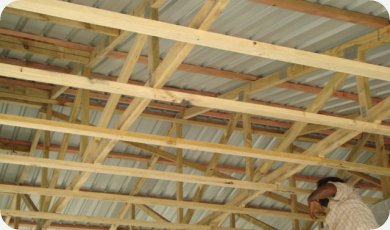 Wooden Roof Truss Fluidframe