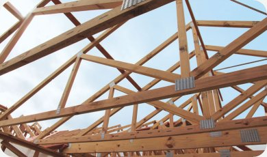 Wooden roof truss fluidframe for Wood roof truss prices